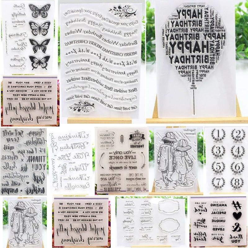 letters clear silicone stamp transparent rubber stamps
