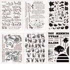 Letters Transparent Clear Silicone Rubber Stamp Diary Scrapb