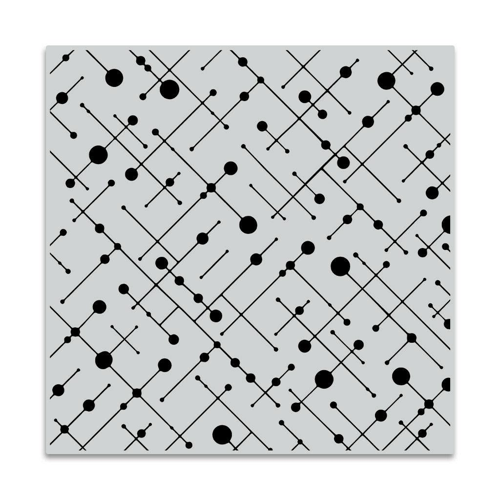 line and dot pattern background cling bold