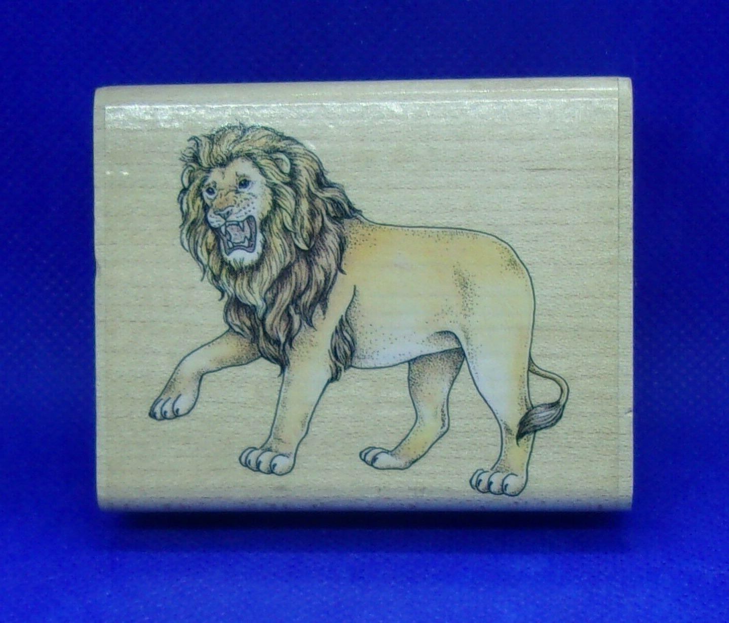 lion rubber stamp by nature wildlife