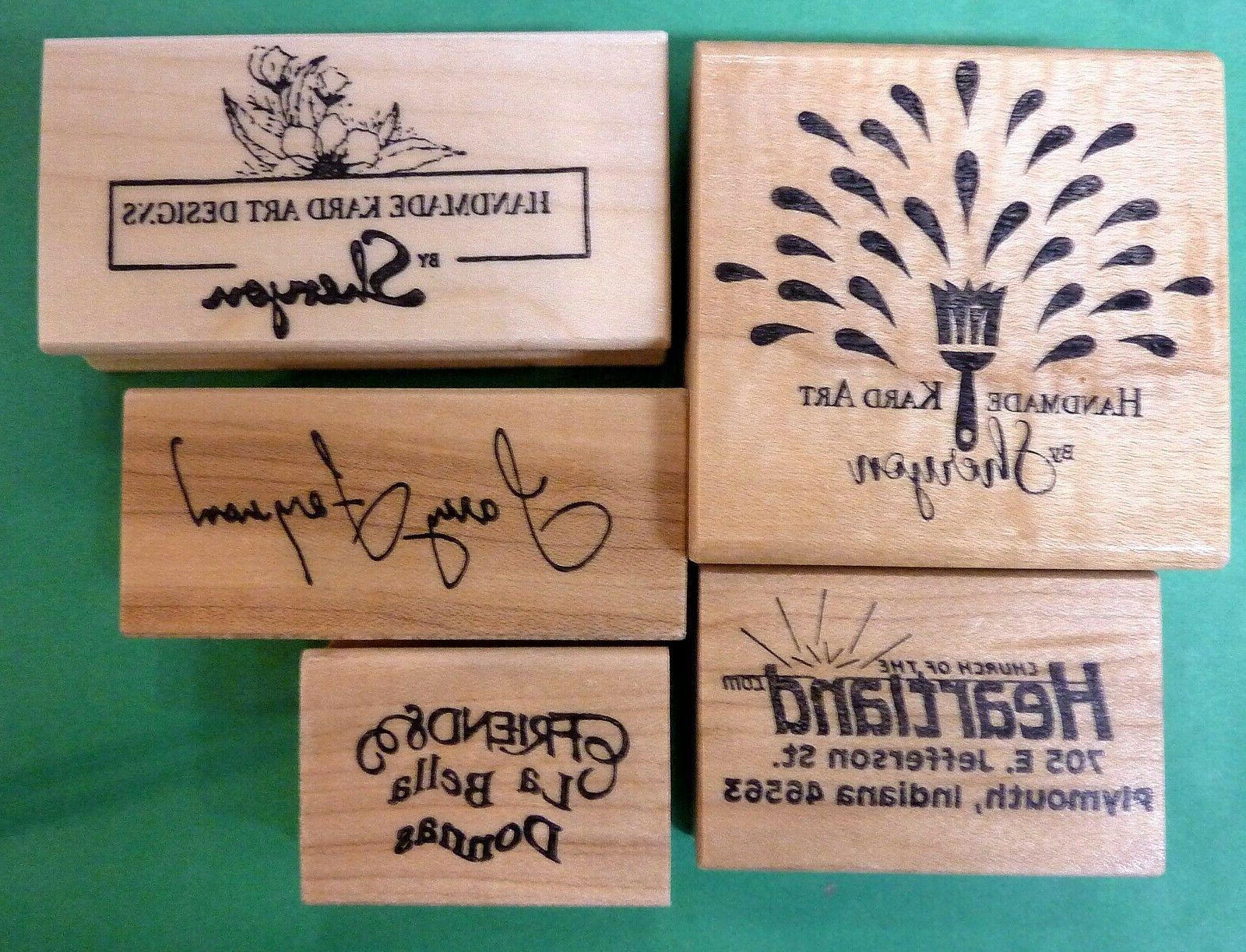Logo or Personalized Special Order Rubber Stamp