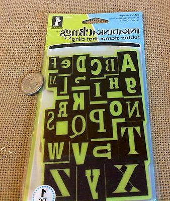 LOT#D ALPHABET CLING RUBBER STAMP CARDMAKER CRAFTS