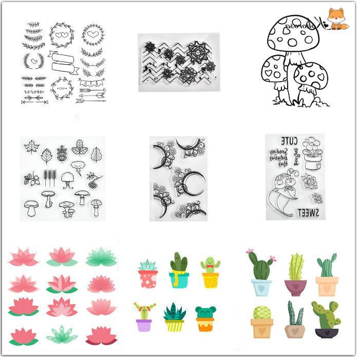 Naifumodo <font><b>Stamps</b></font> Scrapbooking Album Decor <font><b>Stamps</b></font> Transparent Decoration