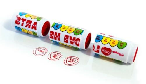 love hearts 3 in 1 rubber stamp