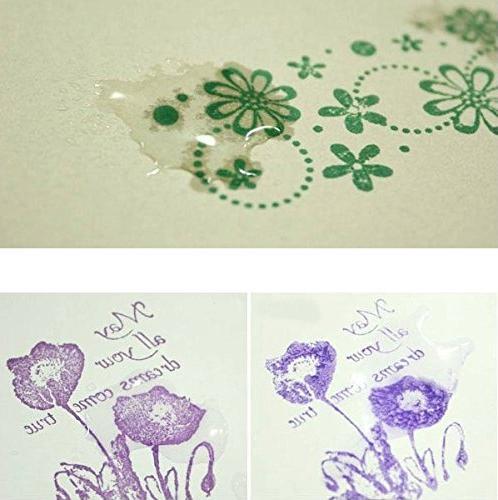 Lsushine Craft Ink Stamps Partner Color,15 Color Ink for Fabric