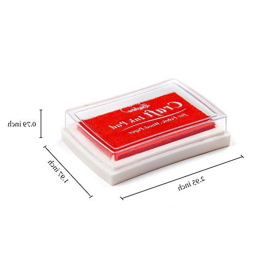 Lsushine Stamps Diy Color Craft Pad for Stamps, Fabric