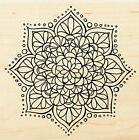 Mandala Flower Design, Wood Mounted Rubber Stamp STAMPENDOUS