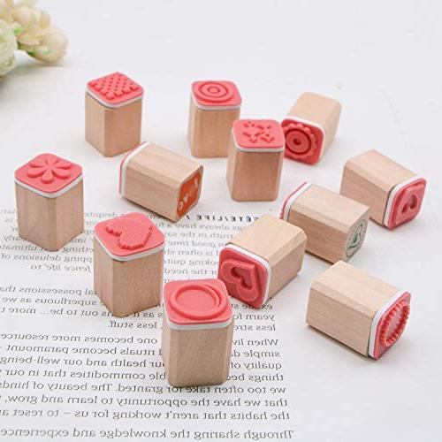 JETEHO Mini Stamps, DIY Diary Wooden