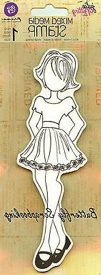 Mixed Media Doll Cling Rubber Stamps-Riley