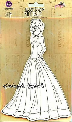 Mixed Media Doll Cling Rubber Stamps-Lorrena