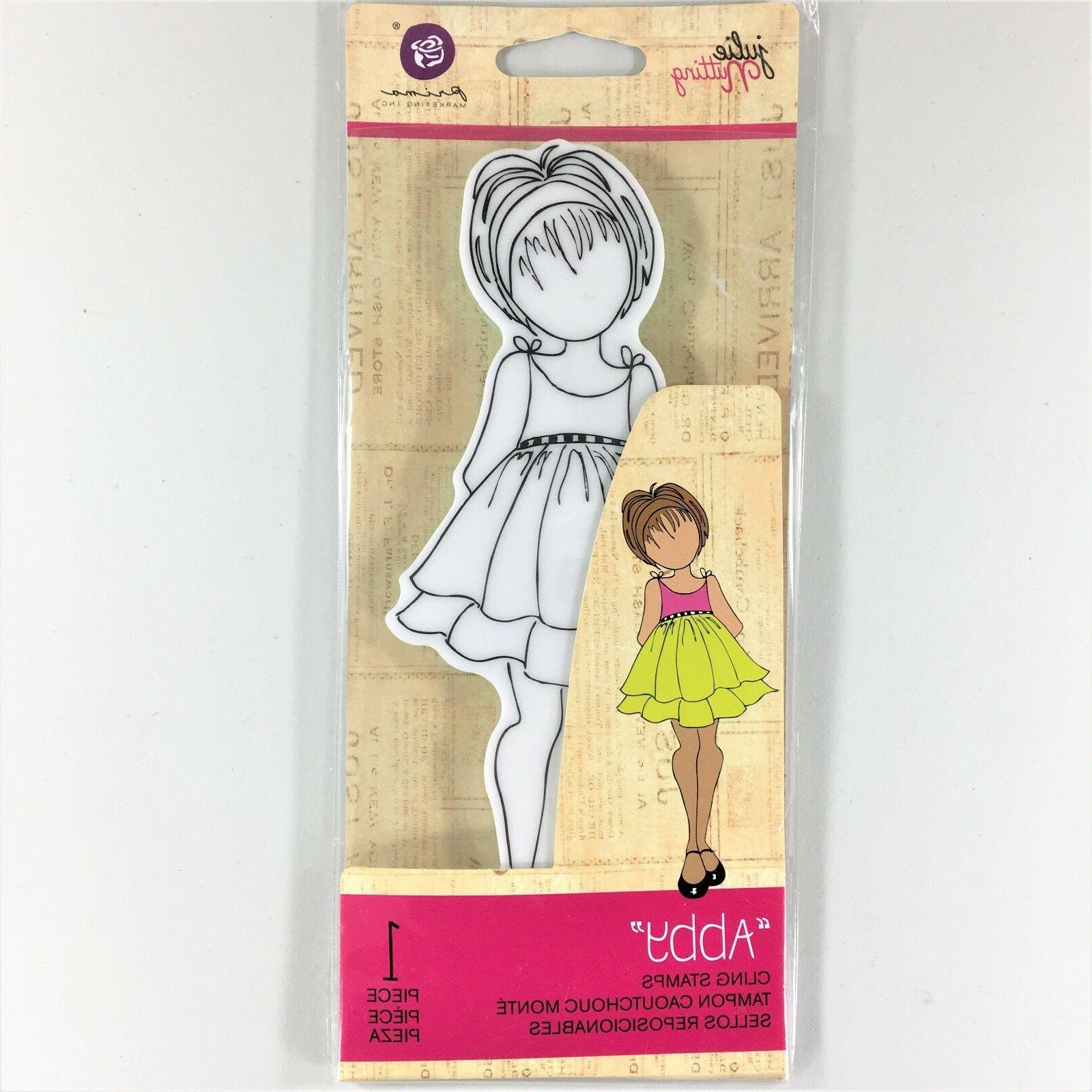Mixed Media Doll Cling Rubber Stamps-Doll With Peasant Dress