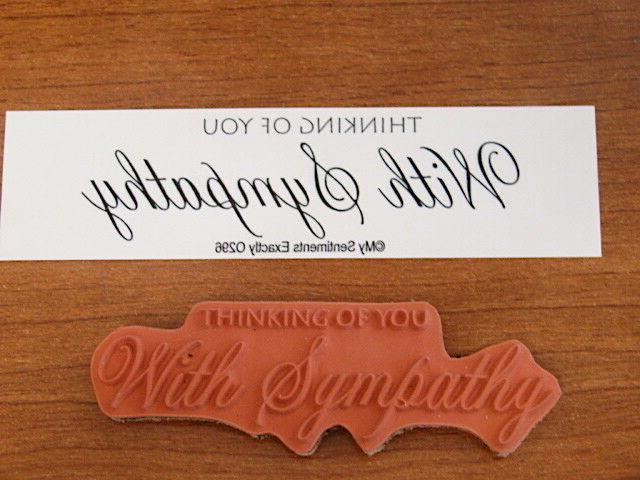 my sentiments exactly unmounted rubber stamp o296