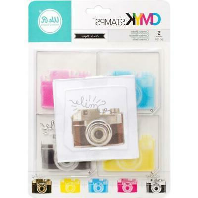 NEW American Crafts CMYK clear layered rubber stamp set CAME