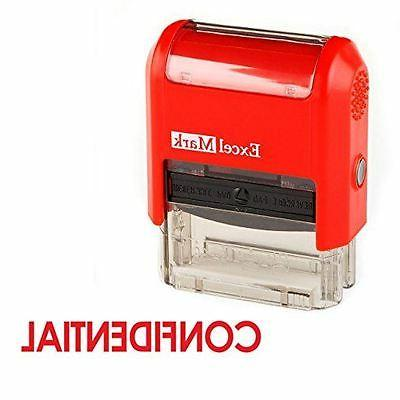 new excelmark confidential self inking rubber stamp