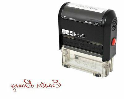 new excelmark easter bunny signature self inking