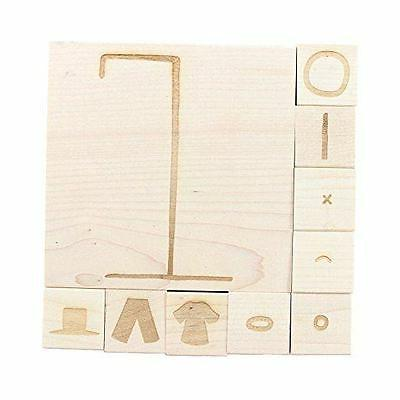 NEW ExcelMark Hangman Engraved Wood Rubber Stamp Set | 10 Pi