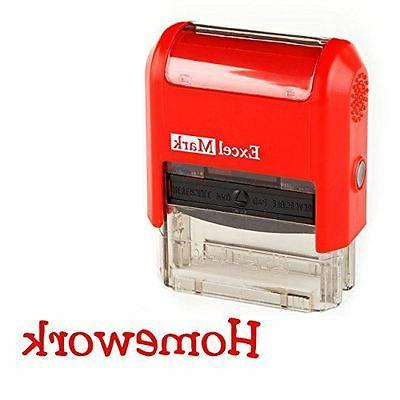 new excelmark homework self inking teacher rubber