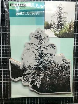 new rubber stamp christmas winter tide tree