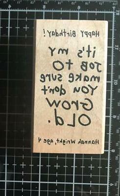 New Inkadinkado Rubber Stamp My job to make sure you don't g
