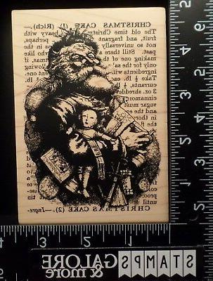 INKADINKADO RUBBER STAMPS CHRISTMAS 96877X SANTA SUBWAY NEWS