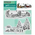 New Penny Black SNOW COVERED Slapstick Cling Rubber Stamp Ch