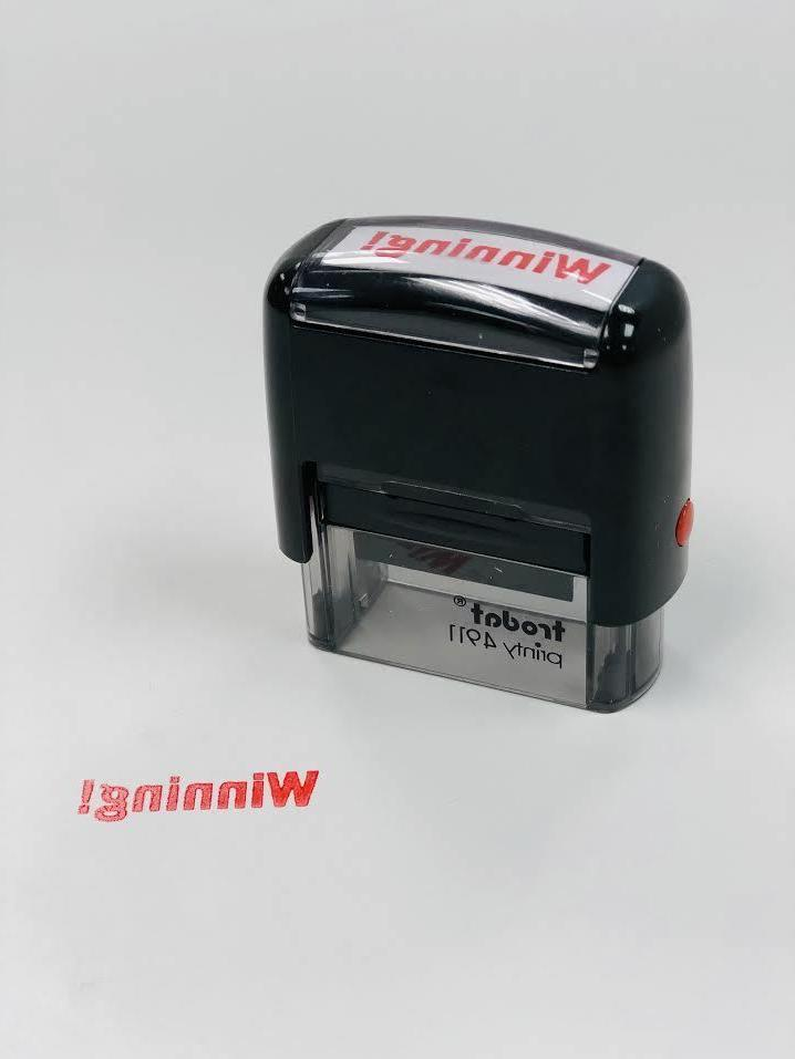 new winning self inking rubber stamp free
