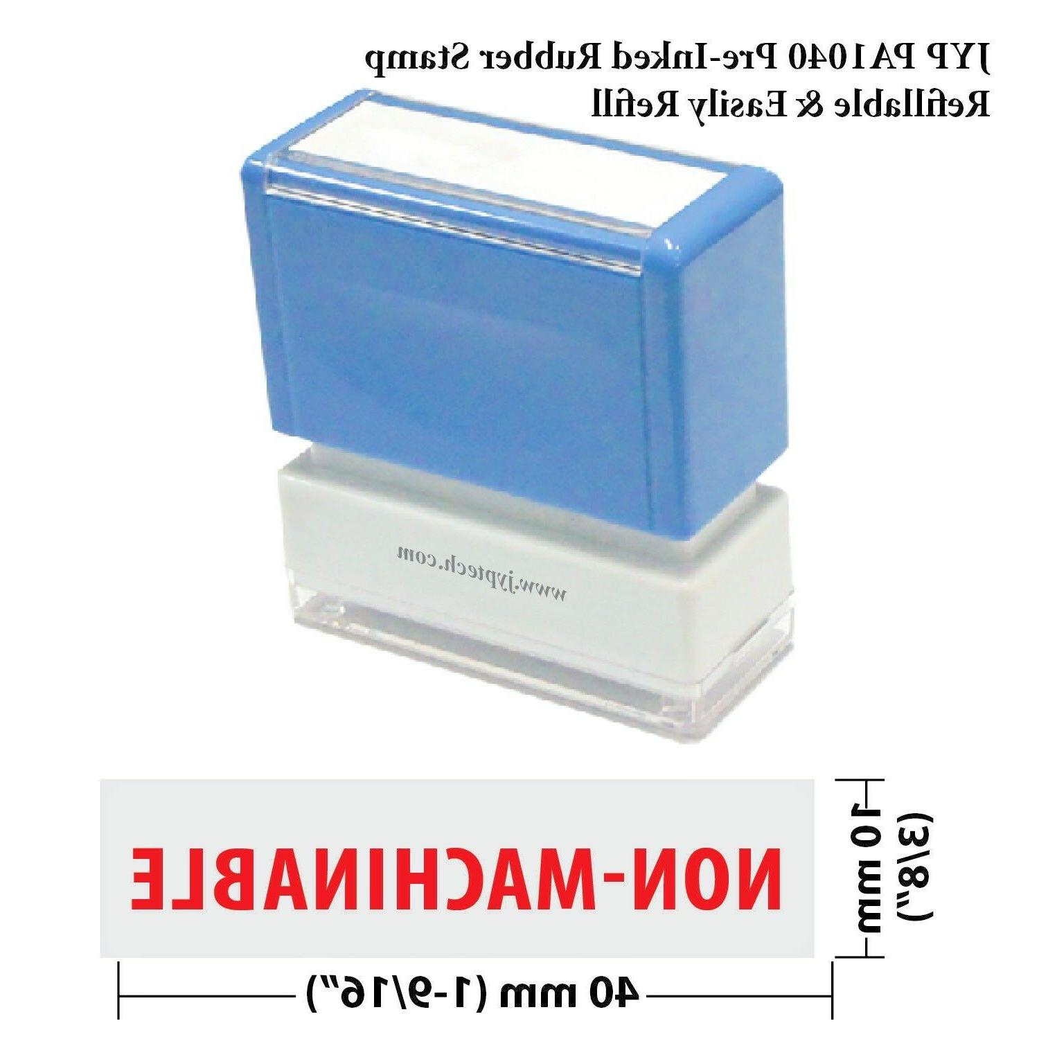 non machinable pa1040 pre inked rubber stamp