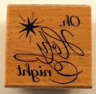 Oh Holy Night Hampton Art Studio G Wooden Rubber Stamp #Inv1