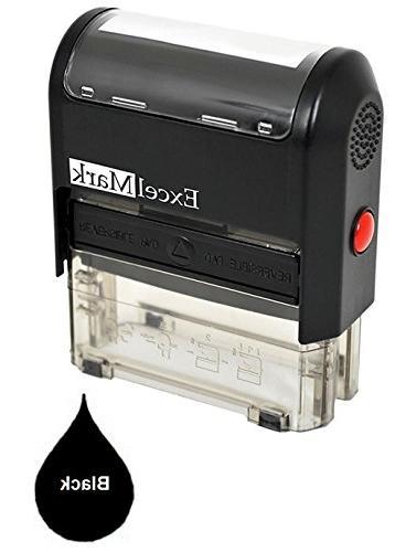 one line custom rubber stamp