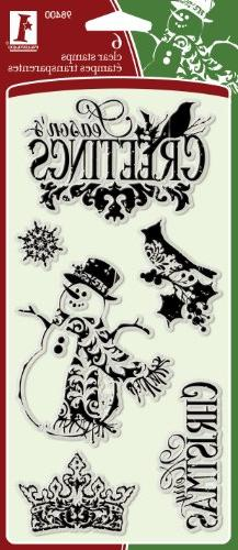 Inkadinkado Ornate Christmas Clear Stamps