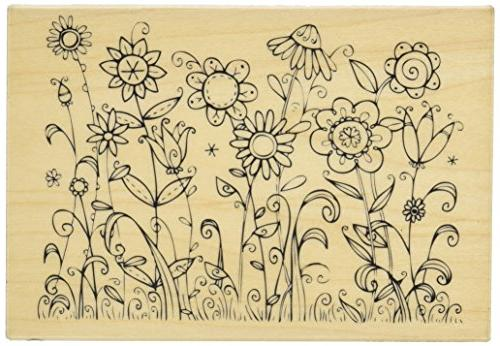 outline sunbathing rubber stamp