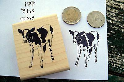 p91 calf cow rubber stamp