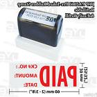 "New JYP PA2060 Pre-Inked Rubber Stamp w.""Paid with ck# No. A"