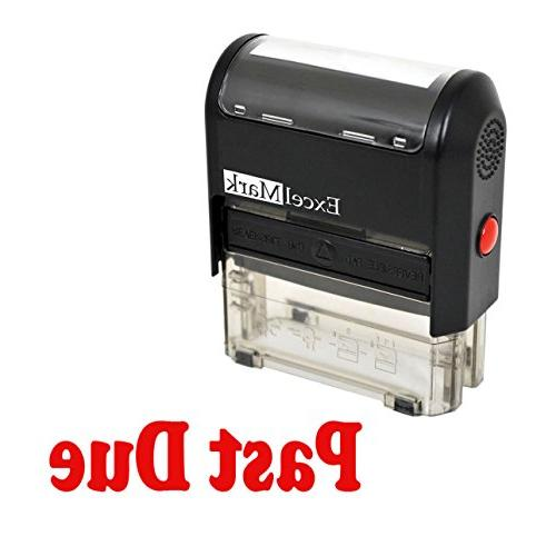 past due self inking rubber