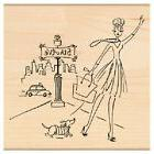 PENNY BLACK RUBBER STAMPS 5th AVENUE NEW wood STAMP