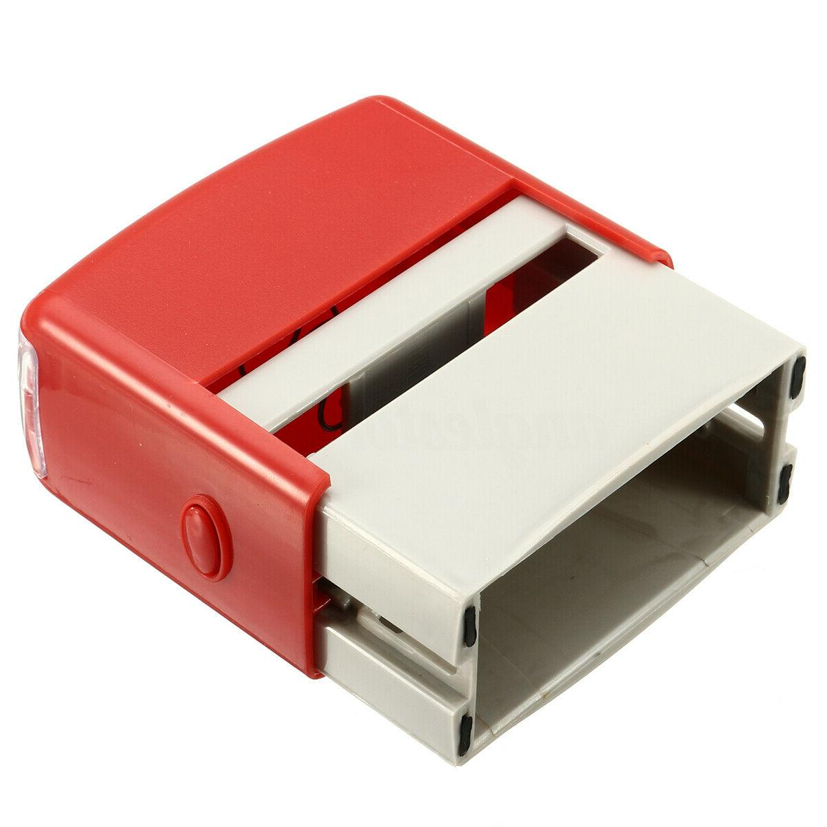 Personalised Self Rubber Stamp Kit Business Address Tool