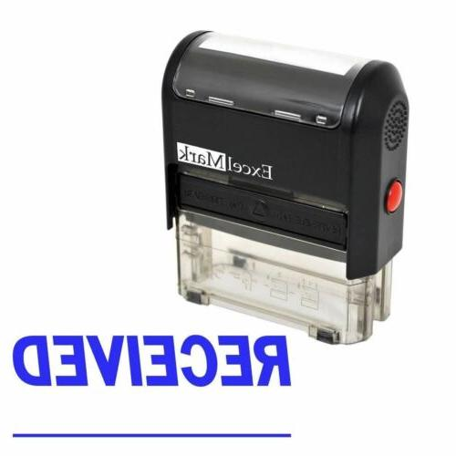 RECEIVED - ExcelMark Signature Line Self Inking Rubber Stamp