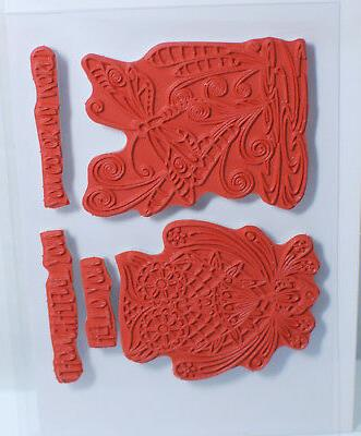 Fun Red Rubber Stamp Set - Color World SS-0289