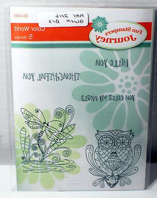 red rubber stamp set color world ss
