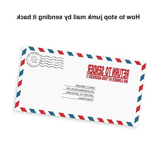 Miseyo Sender NO Longer at Address!! Stamp - Ink - Size