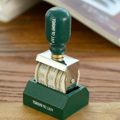 Retro Stamp Wood Handle Roller Seal Stamps Stationery Craft