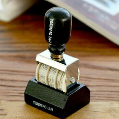 Retro Stamp Wood Handle Rubber Stamps Stationery