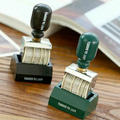 Retro Date Stamp Handle Stamps Stationery Office