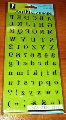 RUBBER INKADINKACLINGS ALPHABETS ~ HEIRLOOM TYPE UPPER & LOW