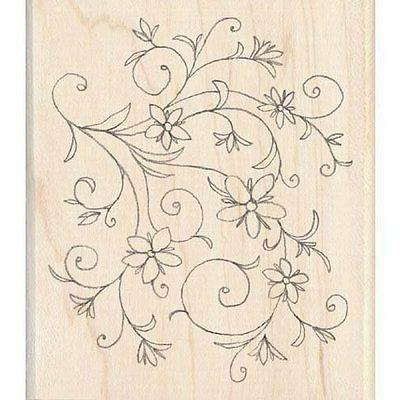 rubber stamp floral