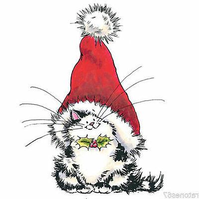 rubber stamp jolly xmas kitty