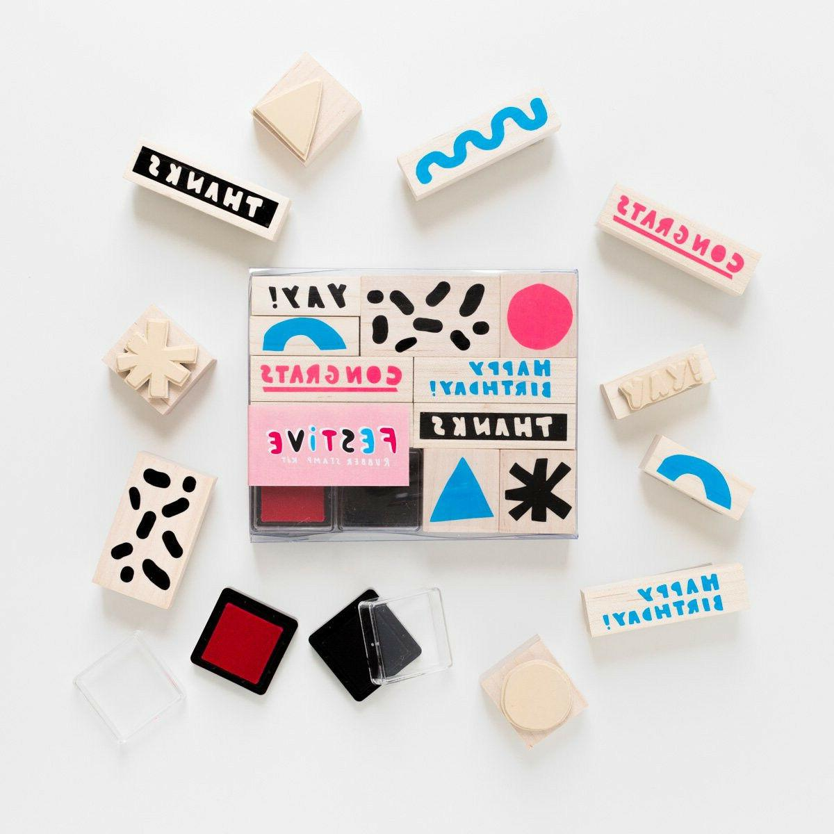 Rubber Stamp Assorted With 2