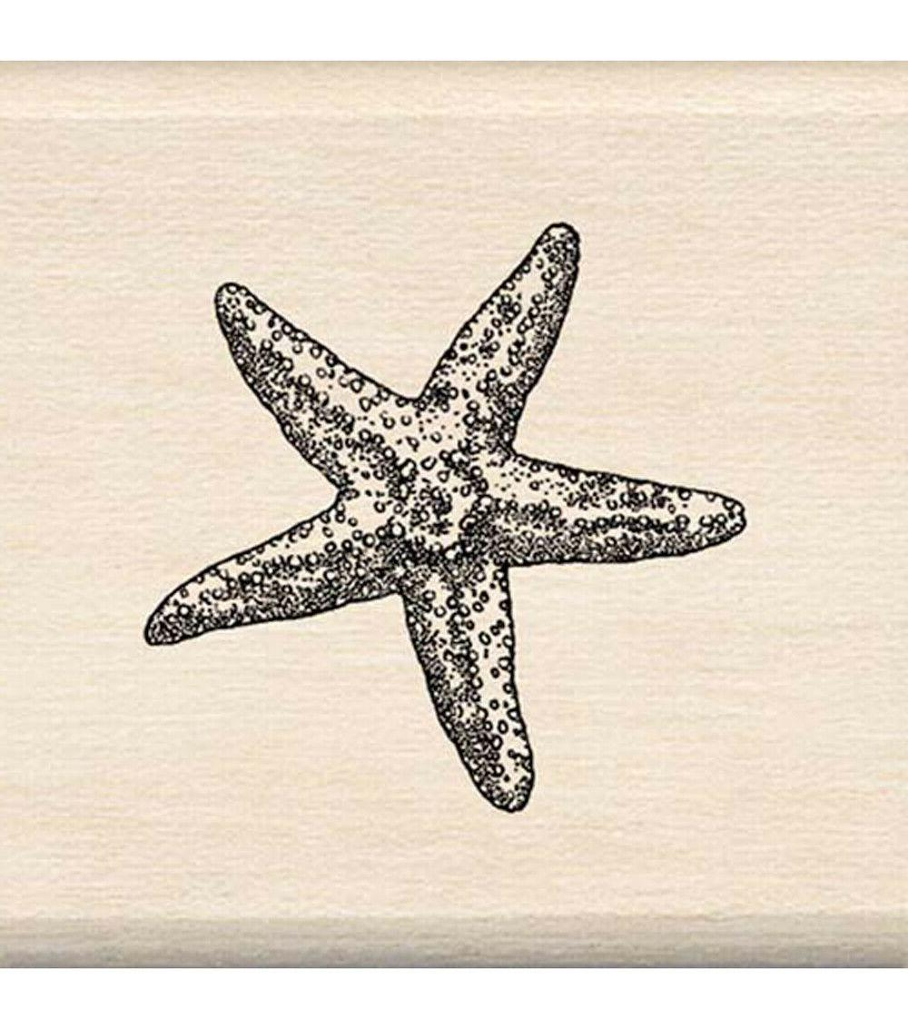 rubber stamp starfish minil by not shown