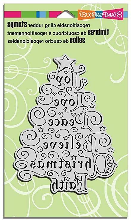 STAMPENDOUS Rubber Stamp Joy Tree /