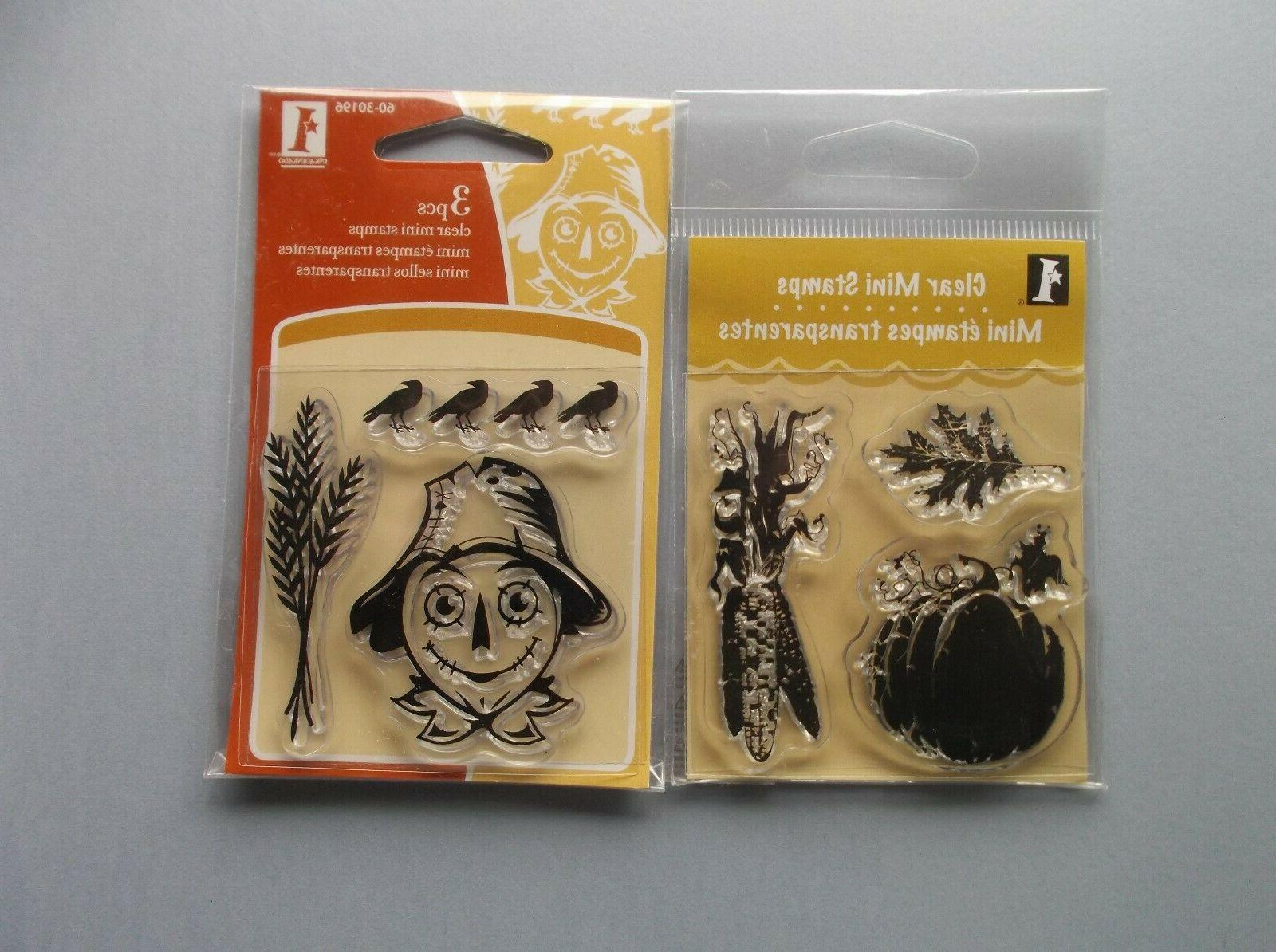 rubber stamps fall thanksgiving 2 sets total